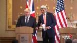 John Kerry shares awkward moment with UK's Boris Johnson amid 'Brexit' backlash