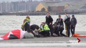 Paraglider crashes near Semiahmoo Bay