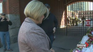 Andrea Horwath pays her respects to Corporal Cirillo