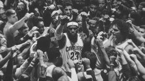 LeBron James huddles Cleveland in stirring new Nike commercial