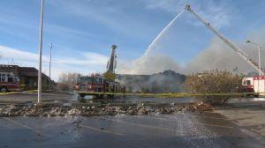 Fire crews kept busy battling blaze at Stadium Shopping Centre
