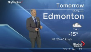 Snowfall warning issued for Edmonton