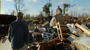 Tornado blazes path of destruction in Columbia, Mississippi