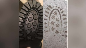 Company recalls winter boots after imprints leave swastika-like symbol