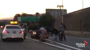 Bikers surround, beat motorist in road rage incident on busy California highway