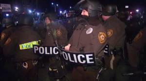 44 arrests, less violence overnight in Ferguson