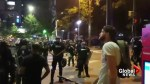 Charlotte police warn protesters to disperse