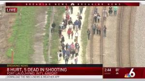 Hundreds stream of out Fort Lauderdale airport following shooting