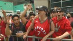 Fans pumped in Jurassic Park for Game 3 between Raptors-Cavaliers