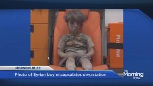 Photo of Syrian child encapsulates civil war horror