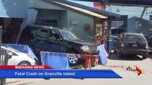 Out of control SUV crashes into Granville Island building, kills foreign student