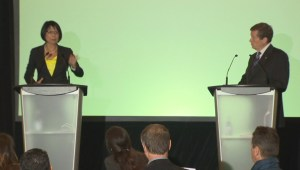 Olivia Chow and John Tory debate sans Rob Ford