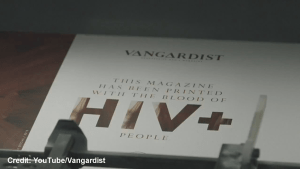 Austrian men's magazine, The Vangardist, prints edition with ink that contains HIV-positive blood