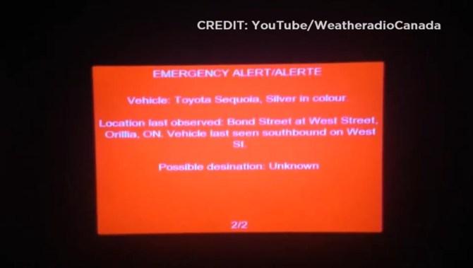 Broadcast Of Amber Alert Warning Interrupts Television