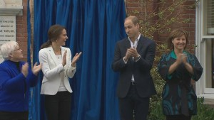 Prince William and Kate unveil monument at the Cridge Centre for the Family