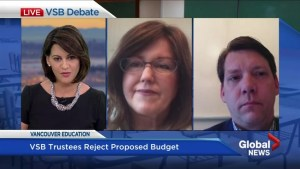 B.C. education minister and school board trustees react to rejected VSB budget proposal