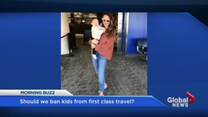 Should we ban kids from first class travel?