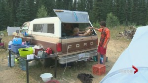 Stunning scene as Okanagan family with children sets up a make-shift home in the bush due to lack of affordable housing
