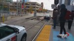 Twitter user catches car driving down Calgary CTrain tracks