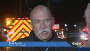 Birght blaze in Christie Park