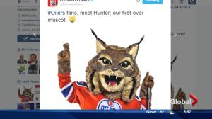 Edmonton Oilers introduce Hunter the mascot