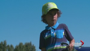 Six-year-old golfer making his mark