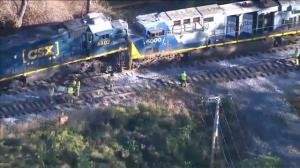 Two freight trains collide head-on in Pennsylvania