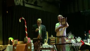 Hudson Christmas firemen's auction