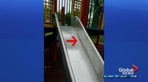 Dangerous slides removed from several Edmonton playgrounds