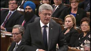 Harper: Government looking at options under the law to detain and arrest those who pose threat