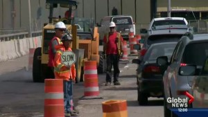 Police warn people to slow down through construction zones