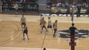 HIGHLIGHTS: University Volleyball – UBC vs Manitoba – Mar. 10