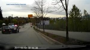 Dramatic dashcam video shows VPD vehicle making contact with Jeep