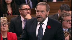 Mulcair presses the government on income-splitting