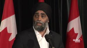 Defence Minister Harjit Sajjan strikes up camaraderie with James Mattis