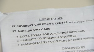 Parents and daycare staff shaken by racist letters