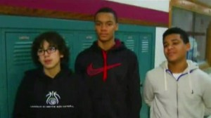 Basketball players defend bullied cheerleader with Down syndrome