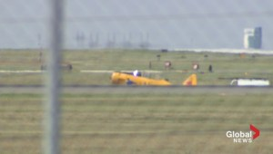 CNE air show plane skids off runway at Pearson