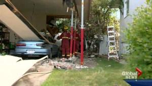 Car crashes into Lake Bonavista house