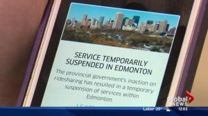 Uber set to restart service in Edmonton