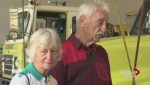 Emotional reunion for Surrey couple saved from burning building