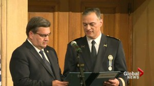 Montreal police chief sworn in