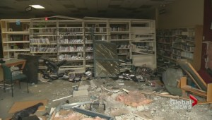 'Like an explosion' when vehicle hits Peachland library