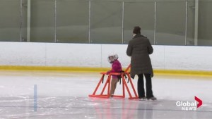 New Brunswick family invents harness to help parents teach kids to skate