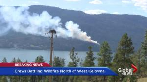 Wildfire breaks out near Lake Okanagan Resort