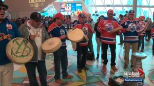 Edmonton Oilers fans watch 1st playoff game in 11 years
