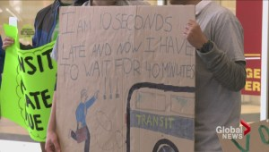 "Transit workers show support for ""Yes"" vote"