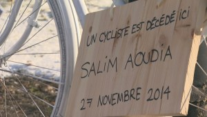 Raw video: Ghost bike for cyclist Salim Aouadi