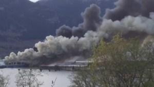 Developing: Large fire burning in Squamish at Nexen Beach