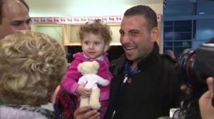 Little girl gets a special gift upon arriving in Canada